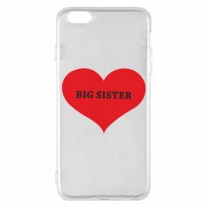Etui na iPhone 6 Plus/6S Plus Big sister, napis w sercu