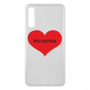 Etui na Samsung A7 2018 Big sister, napis w sercu