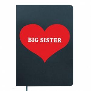 Notes Big sister, napis w sercu