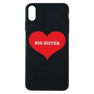 Etui na iPhone Xs Max Big sister, napis w sercu