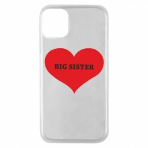 Etui na iPhone 11 Pro Big sister, napis w sercu
