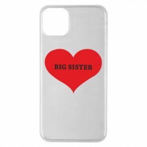 Etui na iPhone 11 Pro Max Big sister, napis w sercu