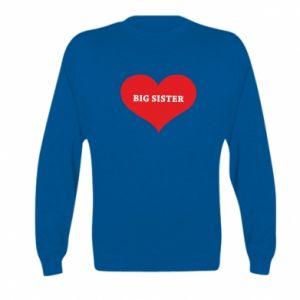 Bluza dziecięca Big sister, napis w sercu