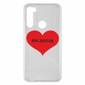 Xiaomi Redmi Note 8 Case Big sister, inscription in the heart