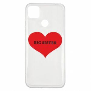 Etui na Xiaomi Redmi 9c Big sister, napis w sercu