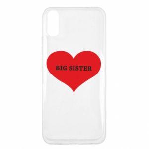 Etui na Xiaomi Redmi 9a Big sister, napis w sercu