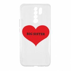 Etui na Xiaomi Redmi 9 Big sister, napis w sercu