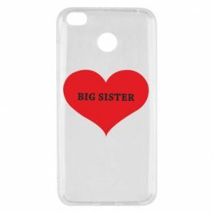 Etui na Xiaomi Redmi 4X Big sister, napis w sercu