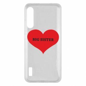Etui na Xiaomi Mi A3 Big sister, napis w sercu