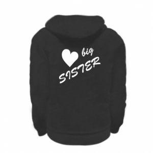 Kid's zipped hoodie % print% Big sister