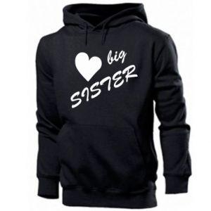 Męska bluza z kapturem Big sister - PrintSalon