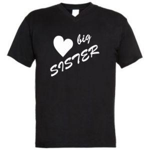 Męska koszulka V-neck Big sister - PrintSalon