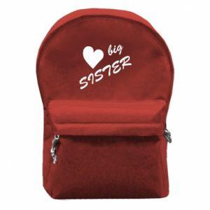 Plecak z przednią kieszenią Big sister - PrintSalon