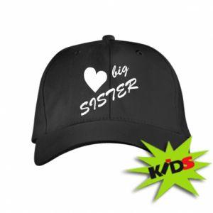 Dziecięca czapeczka z daszkiem Big sister - PrintSalon