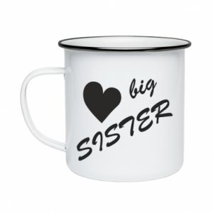 Kubek emaliowane Big sister - PrintSalon
