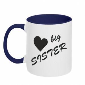 Kubek dwukolorowy Big sister - PrintSalon