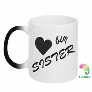 Kubek-kameleon Big sister - PrintSalon