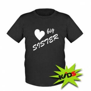 Dziecięcy T-shirt Big sister - PrintSalon
