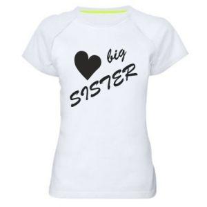 Damska koszulka sportowa Big sister - PrintSalon