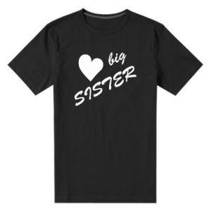 Męska premium koszulka Big sister - PrintSalon