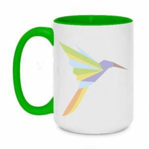 Kubek dwukolorowy 450ml Bird flying abstraction