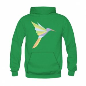 Bluza z kapturem dziecięca Bird flying abstraction