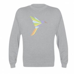 Bluza dziecięca Bird flying abstraction