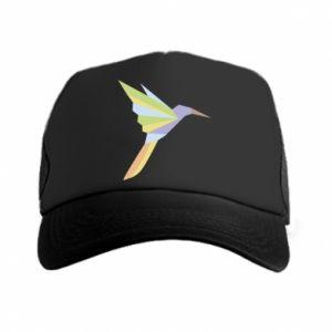 Trucker hat Bird flying abstraction - PrintSalon