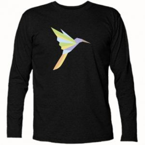 Long Sleeve T-shirt Bird flying abstraction - PrintSalon