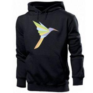 Men's hoodie Bird flying abstraction - PrintSalon