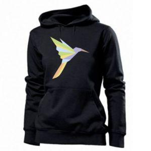 Women's hoodies Bird flying abstraction - PrintSalon
