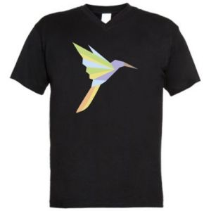 Men's V-neck t-shirt Bird flying abstraction - PrintSalon
