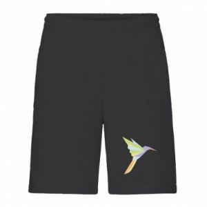 Men's shorts Bird flying abstraction - PrintSalon