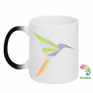 Chameleon mugs Bird flying abstraction - PrintSalon