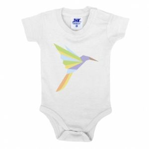 Baby bodysuit Bird flying abstraction - PrintSalon
