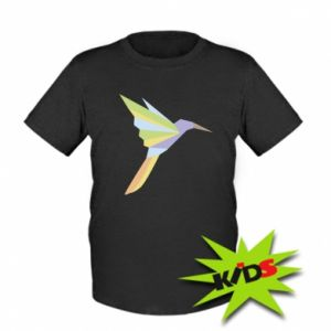 Dziecięcy T-shirt Bird flying abstraction