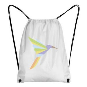 Backpack-bag Bird flying abstraction - PrintSalon