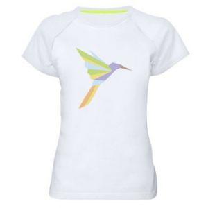 Women's sports t-shirt Bird flying abstraction - PrintSalon