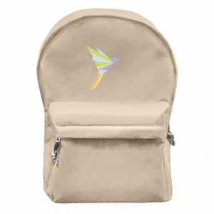 Backpack with front pocket Bird flying abstraction - PrintSalon