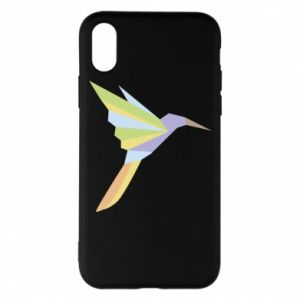 Etui na iPhone X/Xs Bird flying abstraction