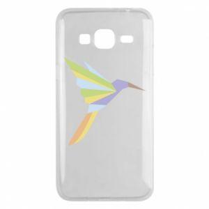 Phone case for Samsung J3 2016 Bird flying abstraction - PrintSalon