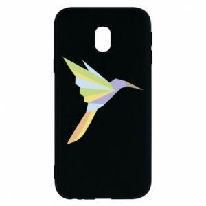 Phone case for Samsung J3 2017 Bird flying abstraction - PrintSalon