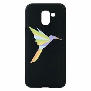Phone case for Samsung J6 Bird flying abstraction - PrintSalon
