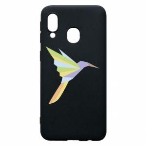 Phone case for Samsung A40 Bird flying abstraction - PrintSalon