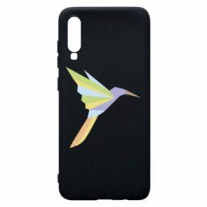 Phone case for Samsung A70 Bird flying abstraction - PrintSalon