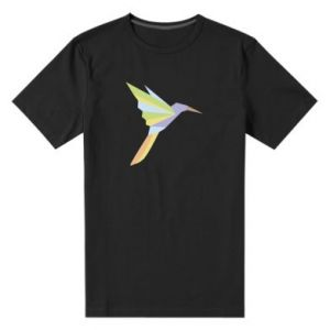 Men's premium t-shirt Bird flying abstraction - PrintSalon