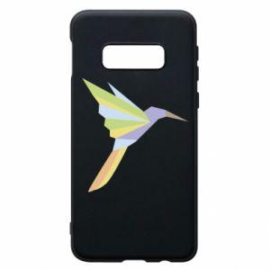 Phone case for Samsung S10e Bird flying abstraction - PrintSalon