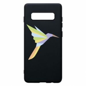 Phone case for Samsung S10+ Bird flying abstraction - PrintSalon