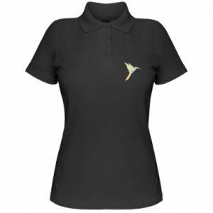 Women's Polo shirt Bird flying abstraction - PrintSalon