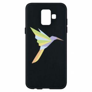 Phone case for Samsung A6 2018 Bird flying abstraction - PrintSalon